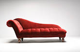 Red daybed