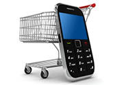 phone and cart