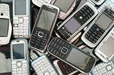 cellphones pile