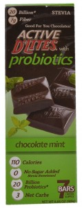 Mint Chocolate, Active D'Lites with Probiotics, USA