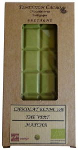 32% Cocoa White Chocolate with Green Tea Matcha, Tentation Cacao, France
