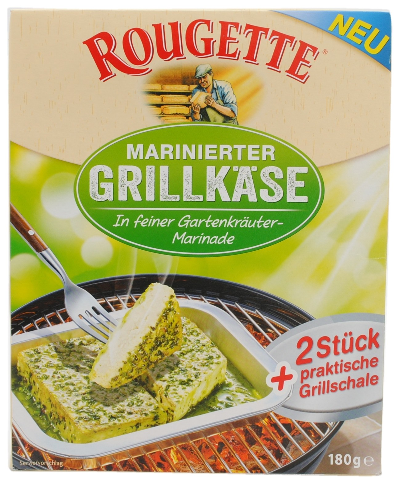 Marinated Grilling Cheese in Fine Garden Herb Marinade