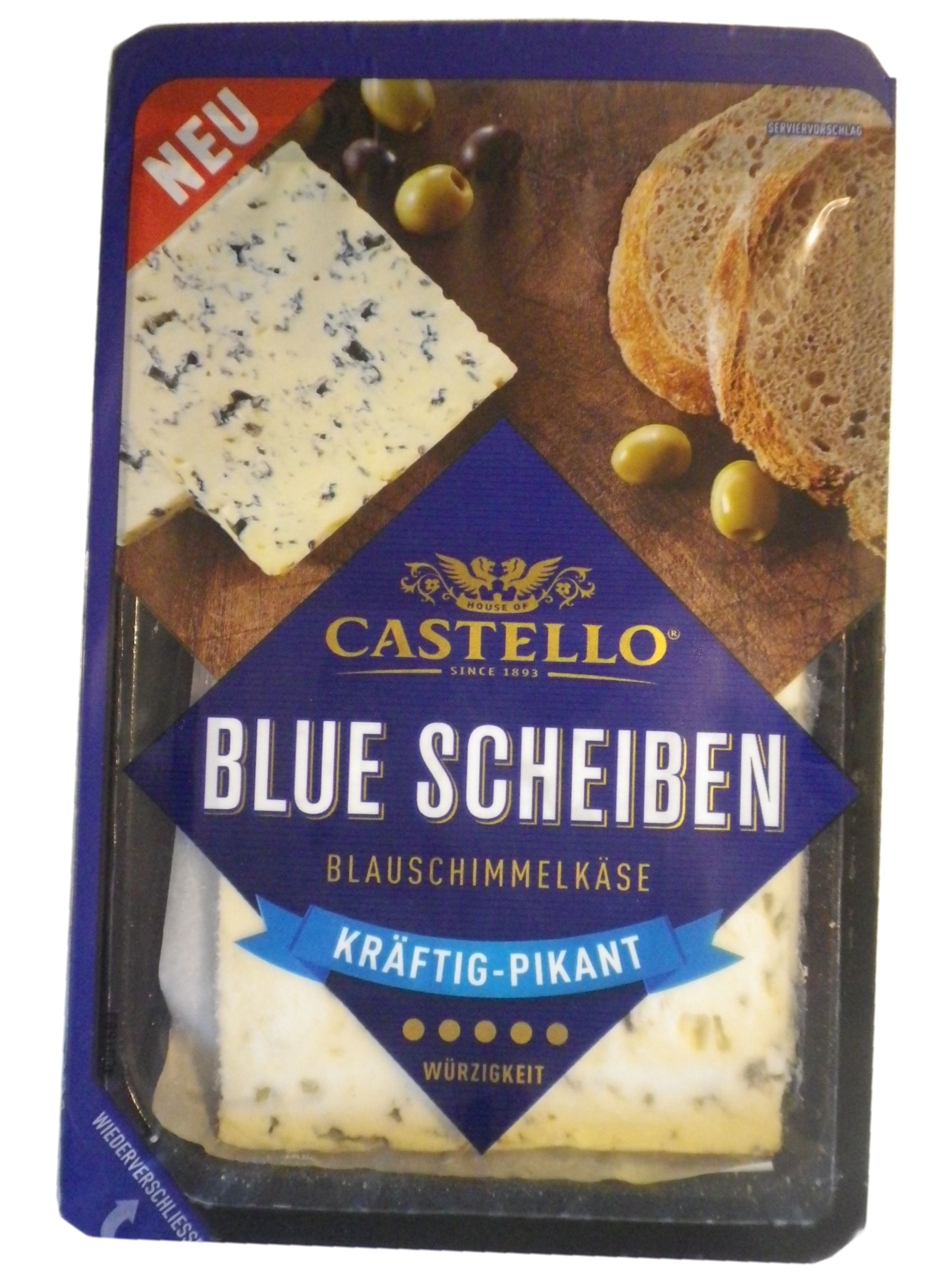 Soft Cheese Slices with Blue Mould