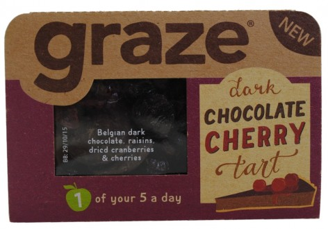 Graze Dark Chocolate Cherry Tart Snack Mix