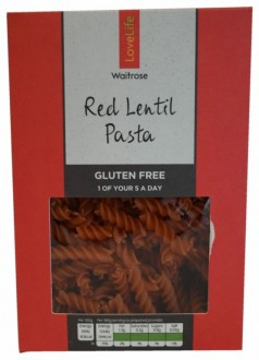 Waitrose Love Life Red Lentil Pasta