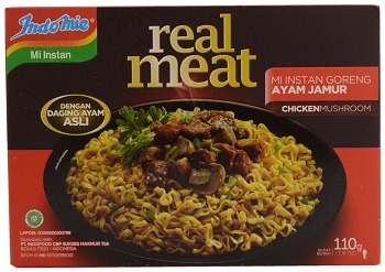 Indomie Real Meat Chicken Mushroom Flavoured Instant Fried Noodles