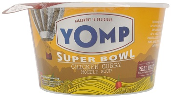 YOMP Super Bowl Chicken Curry Noodle Soup