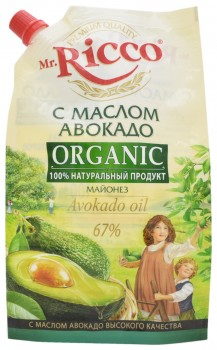 Avocado Oil Mayonnaise, Mr. Ricco Organic Mayonez s Maslom Avokado, Russia