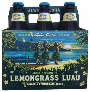 Kona Brewing, Aloha Series Lemongrass Luau Blonde Ale, USA
