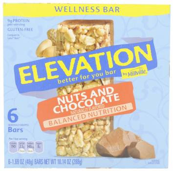 Elevation by Millville, Nuts and Chocolate Wellness Bar, USA